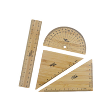 Eco-friendly Bamboo Ruler Set 4 Pack